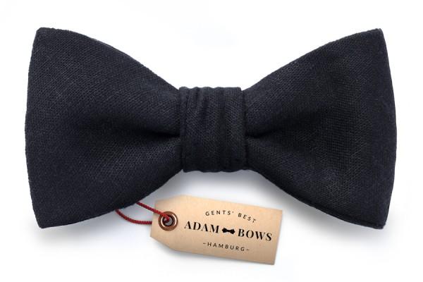 Schwarze Herren Fliege für Dresscode Black tie