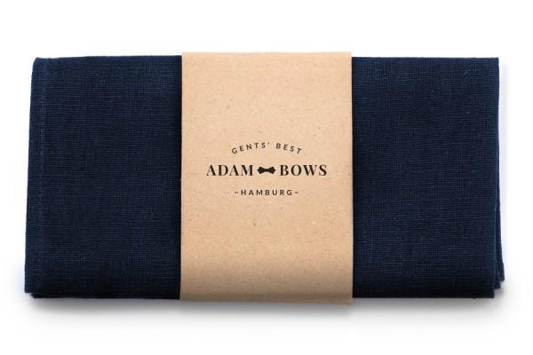 Dunkelblaues Einstecktuch aus Baumwoll-Stoff in Navy